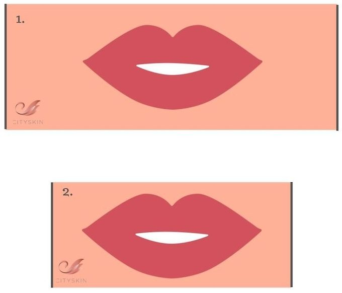 lip shape optical illusion
