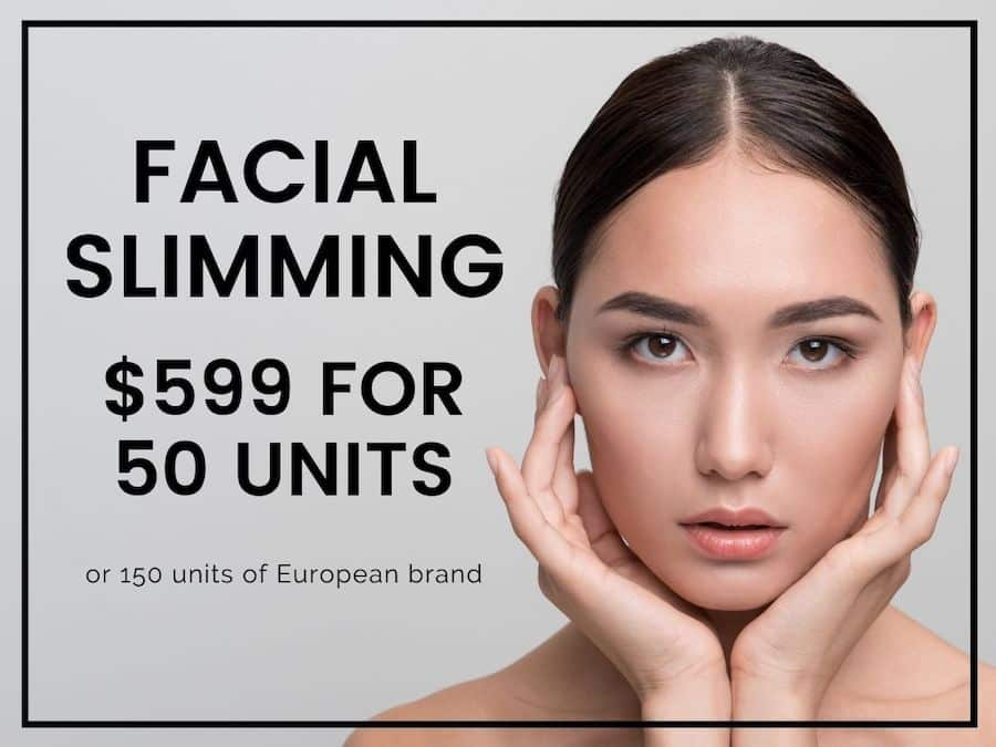 facial jawline slimming cost melbourne